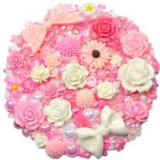 'CHERRY BLOSSOM' Theme Rhinestone and Cabochon Mix